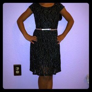 👗 Xhilaration Black & Silver Dress